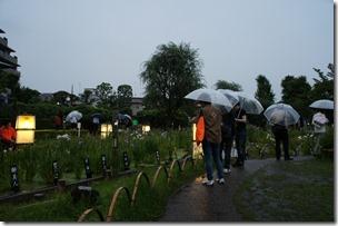 2013/6/21 堀切菖蒲園ライフアップの様子 18:45ごろ